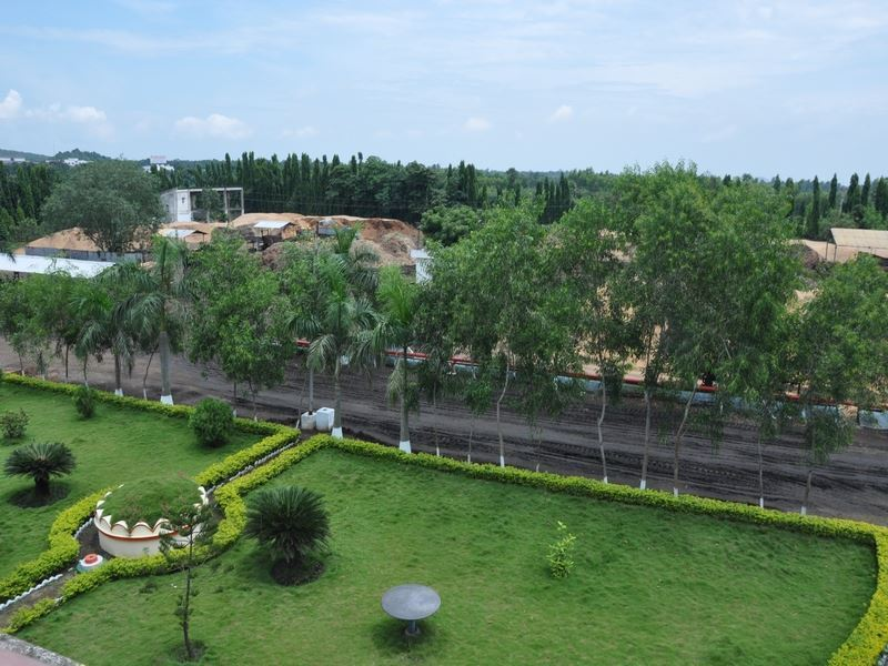 Green space in front of the Varam plant