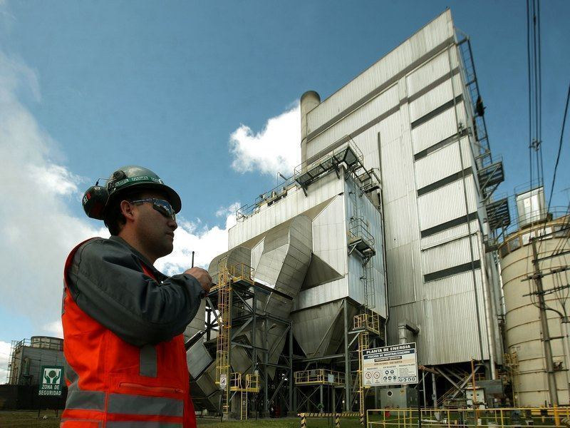 A worker evaluating processes in the power plant