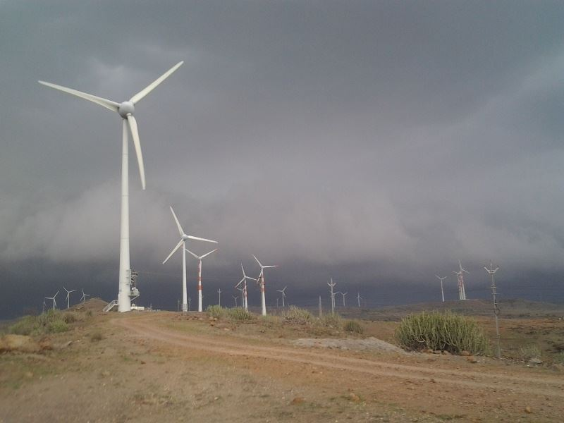 Wind Park 2 in Maharashtra, south landscape