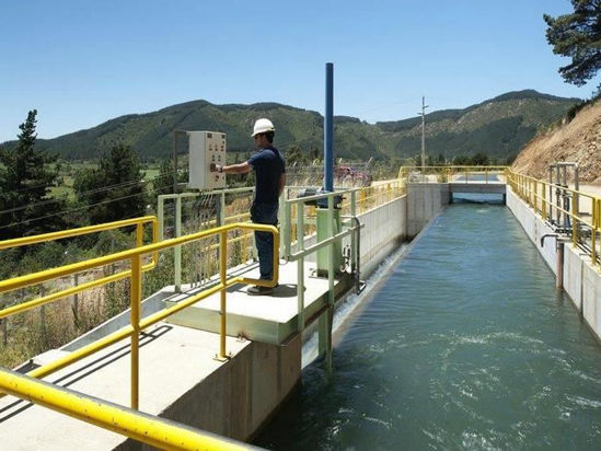 The damm -  San Clemente Hydroelectric Power Plant