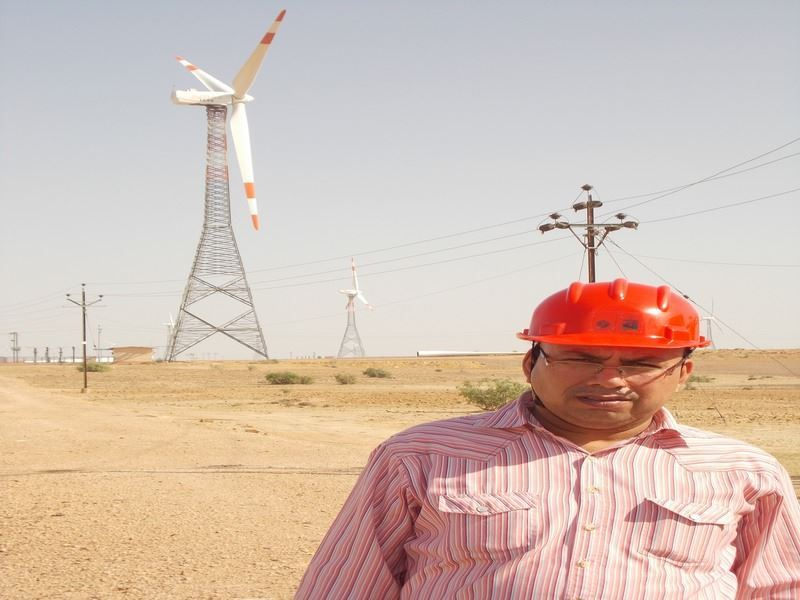 Image de 5 MW Wind Power Project à Baramsar et Soda Mada, district de Jaisalmer, Rajasthan, Inde.