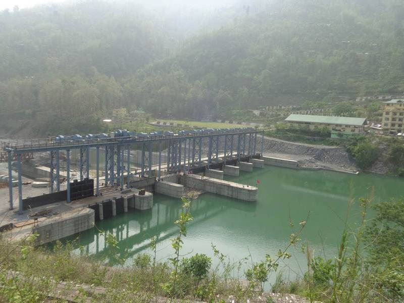 The dam in Jorethang