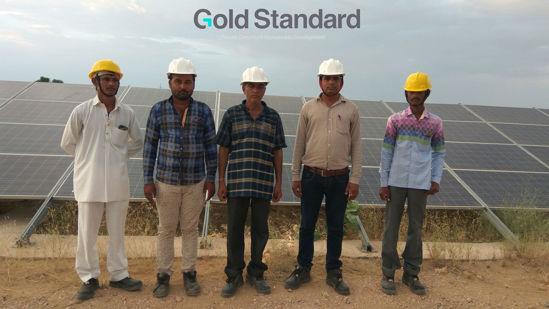 Image de Réduction des GES grâce à la production d'énergie solaire à Jaisalmer, Rajasthan, Inde