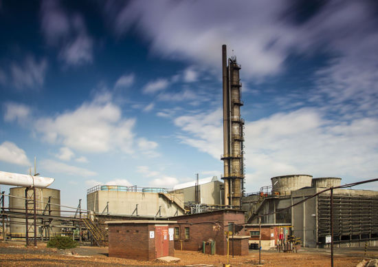 Picture of N2O abatement project at nitric acid plant No. 11 at African Explosives Ltd. (AEL), South Africa